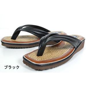 カリプソ 103V 103H サンダル 鼻緒 草履 つっかけ メンズ 紳士 日本製 ブラック ブラックスエード 靴|kksimple
