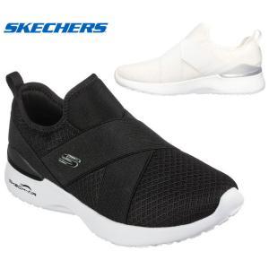 送料無料 [北海道、沖縄除く] スケッチャーズ 149341 SKECHERS SKECH-AIR DYNAMIGHT-EASY CALL スニーカー スリッポンシューズ レディース 婦人 BLK WHT 靴|kksimple