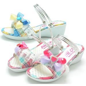 ミュール 3682 サンダル キッズ ジュニア ウエッジ 子供 ピンク ブルー 靴