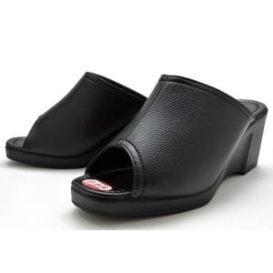 厚底サンダル 514 ヘップサンダル ウエッジソール レディース 婦人 日本製 ブラック 靴 PUAR SHOES|kksimple
