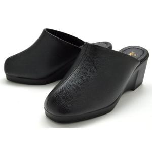 厚底サンダル 550 ヘップサンダル ウエッジソール レディース 婦人 日本製 ブラック 靴 PUAR SHOES|kksimple