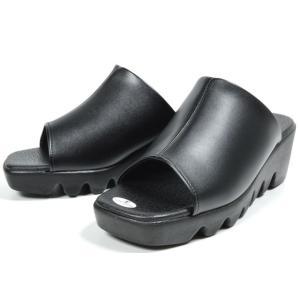 LUCIANO VALENTINO 6451 厚底サンダル オフィスサンダル ウエッジソール レディース 婦人 日本製 ブラック ブロンズ 靴|kksimple