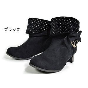 アウトレット 子供ブーツ 9625 ショートブーツ キッズ ジュニア 子供 ブラック ダークブラウン 靴|kksimple