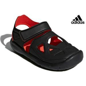 アディダス adidas DB0486 KIDS FORTASWIM 2 C スポーツサンダル キッズ 子供 ブラック/レッド/ブラック 靴|kksimple