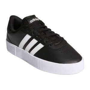 アディダス adidas FX3490 FX3489 COURT BOLD W 厚底スニーカー ローカット レディース 婦人 ブラック/ホワイト/ブラック ホワイト/プラチナ 靴|kksimple