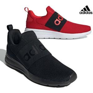 アディダス adidas H04296 H04806 LITE ADIRACER ADAPT 4.0 スニーカー スリッポンシューズ メンズ 紳士 ブラック/ブラック レッド/ブラック 靴|kksimple
