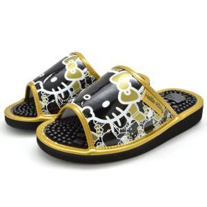 送料無料 [北海道、沖縄除く] ハローキティ SA-4146N HELLO KITTY 健康サンダル レディース 婦人 ブラック/ゴールド ホワイト ブラック/ピンク ゴールド 靴|kksimple