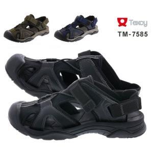 テクシー TM-7585 texcy スポーツサンダル スポサン 2WAY メンズ 紳士 ブラック カーキ インディゴ 靴|kksimple