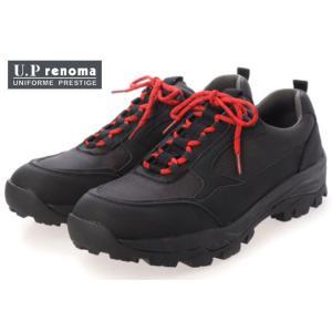 アウトレット U.P renoma U1700 トレッキングシューズ スニーカー メンズ 紳士 3E 幅広 BLA ブラック OAK オーク NAV ネイビー 靴 セール SALE|kksimple