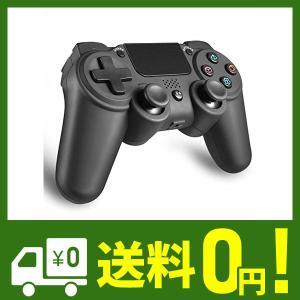 PS4 ワイヤレス コントローラー 無線 FPS イヤフォン 使用可 Bluetooth接続 6軸 振動 高耐久ボタン 日本取扱説明書付き AnvFl klab-store