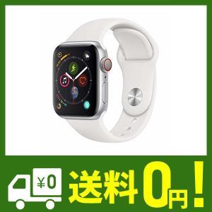 Apple?Watch Series?4(GPS?+?Cellularモデル)- 40mmシルバーア...