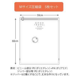 GOOD TRAVEL PLUS専用 圧縮袋 (Mサイズ5枚セット) km-link