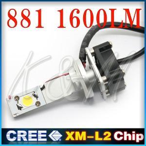 在庫処分 LED 881 1600ルーメン ワンピース LED フォグランプ 新型CREEチップ! 12V 24V 2個入り 1ヶ月保証 K&M|km-serv1ce