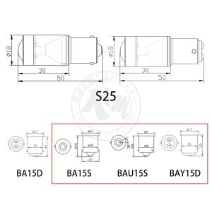 LED T20 S25 (BA15S BAU15S BAY15D) H8 H11 HB3 HB4 HIR2 CREE LED 750lm フォグランプ ブレーキ ウインカー バック 2個入り 12V 24V 1年保証 K&M|km-serv1ce|08