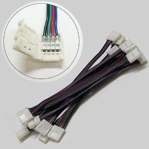 K&M LEDテープ用 5050SMD RGB対応 4PIN 幅10mm用 延長用コネクタ はんだ付け不要!|メール便 1ヶ月保証|km-serv1ce