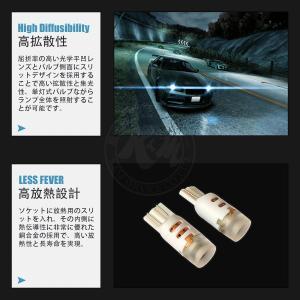 LED T10 T15 T16 汎用 5W仕様 2D ホワイト 6000K 12V/24V 無極性 2個入り ルームランプ ウインカー 6ヶ月保証 K&M km-serv1ce 04