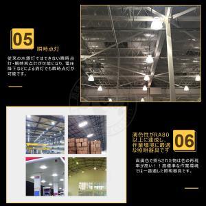 LED 高天井灯 UFO型 LED投光器 100W 13000lm 水銀灯400W相当 落下防止用ワイヤ付き 工場 ホール 体育館 倉庫 展覧会 PSE 1年保証 K&M|km-serv1ce|05