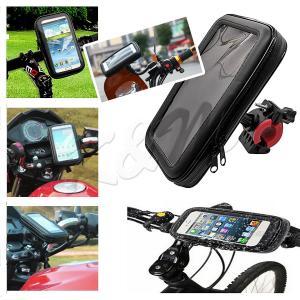 防水スマホホルダー 自転車 バイク 2Way 選べる2サイズ M/Lサイズ iPhone 8 Plus/XS MAX/XR対応 1ヶ月保証 K&M|km-serv1ce|03