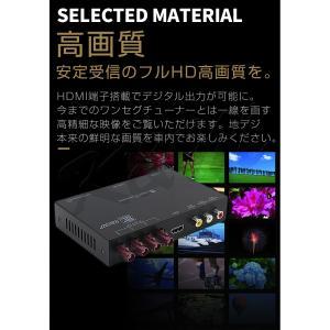 高画質 地デジチューナー フルセグ ワンセグ HDMI FAKRAコネクター 4チューナー 4アンテナ 高性能 miniB-CASカード付き 1年保証 K&M|km-serv1ce|02