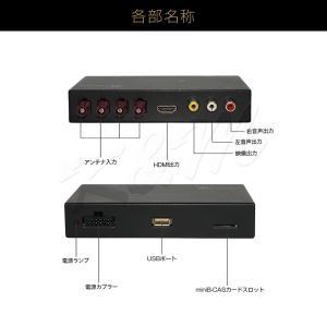 高画質 地デジチューナー フルセグ ワンセグ HDMI FAKRAコネクター 4チューナー 4アンテナ 高性能 miniB-CASカード付き 1年保証 K&M|km-serv1ce|09