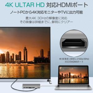 USB Type C MacBook Pro ハブ MacBook Air 2019対応 9in1 4K HDMI 1Gbps有線LAN PD充電 USB 3.0ポートx2 microSD 拡張 変換 3ヶ月保証 K&M|km-serv1ce|04