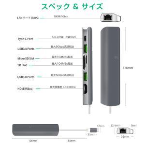 USB Type C MacBook Pro ハブ MacBook Air 2019対応 9in1 4K HDMI 1Gbps有線LAN PD充電 USB 3.0ポートx2 microSD 拡張 変換 3ヶ月保証 K&M|km-serv1ce|09