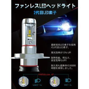 LEDヘッドライト 2個入り 6000LM H4 HI/LO H7 H8 H9 H10 H11 H16 HB3 HB4 HIR2 LEDチップ バイク 車 対応 12V 24V 1年保証 K&M|km-serv1ce|04