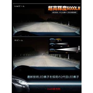 LEDヘッドライト 2個入り 6000LM H4 HI/LO H7 H8 H9 H10 H11 H16 HB3 HB4 HIR2 LEDチップ バイク 車 対応 12V 24V 1年保証 K&M|km-serv1ce|06
