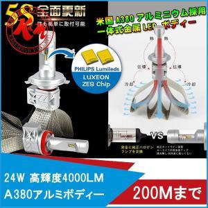 K&M LEDヘッドライト ヒートリボン 2個入り PHILIPS 車検対応 4000LM LED H4 HI/LO H7 H8 H9 H10 H11 H16 HB3 HB4 H1 H3 880 881 12V 24V| 1年保証|km-serv1ce