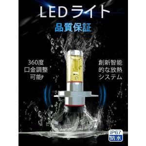 LEDヘッドライト 2個入り 6000LM H4 HI/LO H7 H8 H9 H10 H11 H16 HB3 HB4 HIR2 LEDチップ バイク 車 対応 12V 24V 1年保証 K&M|km-serv1ce|03