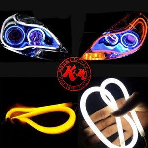 K&M LEDヘッドライト チューブライト 60cm シリコン 2本セット LEDシリコンチューブライト|メール便 1ヶ月保証|km-serv1ce