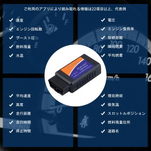 ELM327 WiFi OBD2汎用スキャンツール V1.5 iPhone iPad Android PC対応 カー情報診断ツール OBDII 送料無料 1ヶ月保証 K&M|km-serv1ce|02