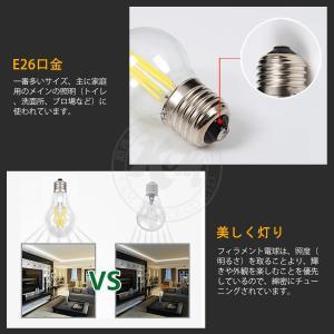LED電球 フィラメント 10W 100W相当 電球色 昼白色 E26口金 A60 レトロエジソン クリアガラス 調光器 ホタルスイッチ非対応 PSE 3ヶ月保証 K&M|km-serv1ce|04
