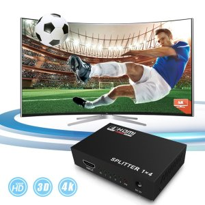 HDMI分配器 1入力4出力 スプリッター 4K 2K FHD 3D映像対応 電源アダプター TV PC 任天堂スイッチ Fire TV Stick等に対応 1ヶ月保証 K&M|km-serv1ce|03