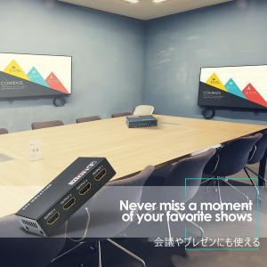 HDMI分配器 HDMI スプリッター 1入力4出力 4k 2K FHD 3D映像対応 電源アダプター TV PC 任天堂スイッチ Fire TV Stick等に対応 1ヶ月保証 K&M|km-serv1ce|05