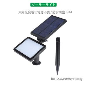 LEDソーラーライト 挿し込み・壁付け 屋外 光センサー