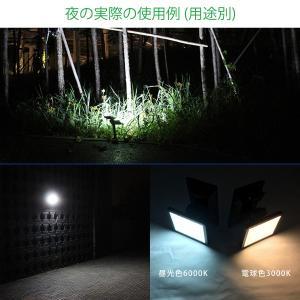 LEDソーラーライト 挿し込み・壁付け 屋外 光センサー 昼光色6000K/電球色3000K 約200LM 防水 ガーデンライト スポットライト 電源不要 3ヶ月保証 K&M|km-serv1ce|05