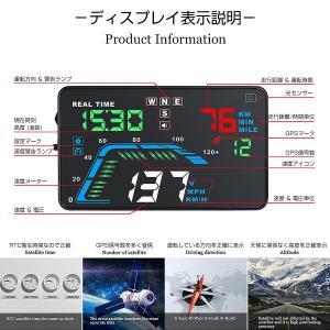 HUD ヘッドアップディスプレイ Q7 GPS 5.5インチ 大画面 カラフル 日本語説明書 車載 12V全車対応 フロントガラス 宅配便送料無料 6ヶ月保証 K&M|km-serv1ce|04