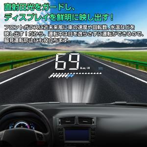HUD ヘッドアップディスプレイ M7 GPS/OBD2対応 大画面 カラフル 日本語説明書 車載スピードメーター ハイブリッド車対応 宅配便送料無料 6ヶ月保証 K&M|km-serv1ce|03