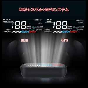 HUD ヘッドアップディスプレイ M7 GPS/OBD2対応 大画面 カラフル 日本語説明書 車載スピードメーター ハイブリッド車対応 宅配便送料無料 6ヶ月保証 K&M|km-serv1ce|04