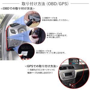 HUD ヘッドアップディスプレイ M7 GPS/OBD2対応 大画面 カラフル 日本語説明書 車載スピードメーター ハイブリッド車対応 宅配便送料無料 6ヶ月保証 K&M|km-serv1ce|05