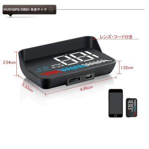 HUD ヘッドアップディスプレイ M7 GPS/OBD2対応 大画面 カラフル 日本語説明書 車載スピードメーター ハイブリッド車対応 宅配便送料無料 6ヶ月保証 K&M|km-serv1ce|07