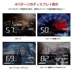 HUD ヘッドアップディスプレイ M7 GPS/OBD2対応 大画面 カラフル 日本語説明書 車載スピードメーター ハイブリッド車対応 宅配便送料無料 6ヶ月保証 K&M|km-serv1ce|09