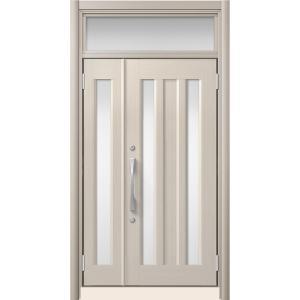 LIXIL リシェント リフォーム玄関ドア アルミ仕様C16N型 親子ランマ付き アルミ色 標準工事...