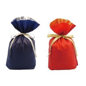 【メール便で送料無料】ラッピング 2枚セット 袋 リボン付き 巾着タイプ|kmint