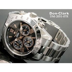 ダンクラーク DONCLARK クロノグラフ 腕時計 DM-2051-07R|kmmnetshop|02