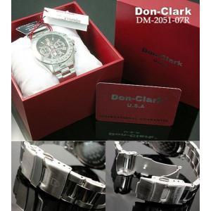 ダンクラーク DONCLARK クロノグラフ 腕時計 DM-2051-07R|kmmnetshop|03