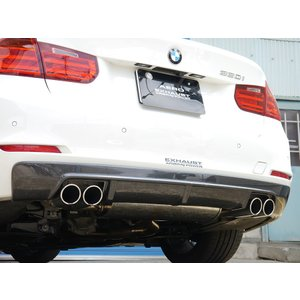 ARQRAY MOTOR SPORT Rear Diffuser BMW F30/31 320i/328i SEDAN & TOURING QUAD Tail Carbon Type 803AMS06|kn-carlife