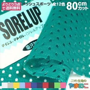 「80cmカット」メッシュスポーツ 全12色 125cm巾×80cmカット |knit-yamanokko
