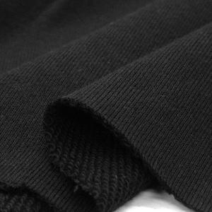 ニット生地 30/10コーマ裏毛 ブラック 「スウェット、トレーナー向け定番素材」 knit-yamanokko
